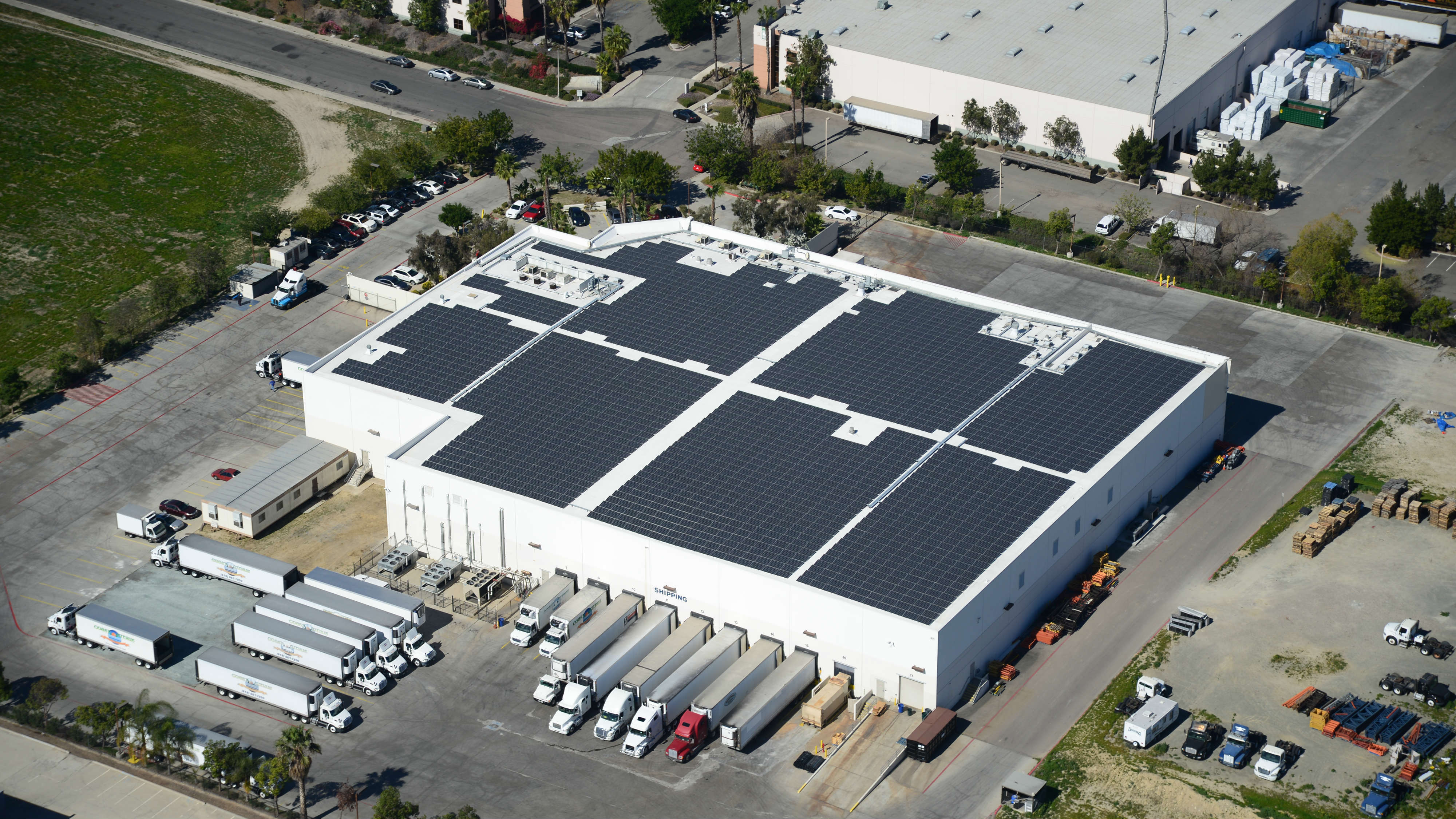 Roof mounted solar installation for Coast Citrus Distributors