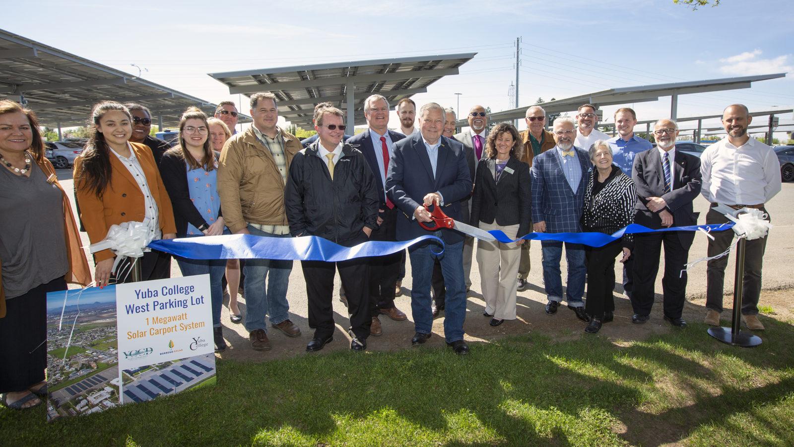 Yuba College and Borrego Solar Systems Celebrate Operation of 1 Megawatt Solar Carport Project